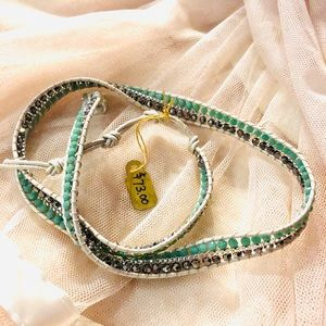 Handmade wrap bracelet 🥥🥛
